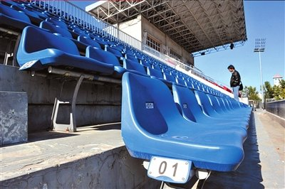Fresh new seats in the stadium